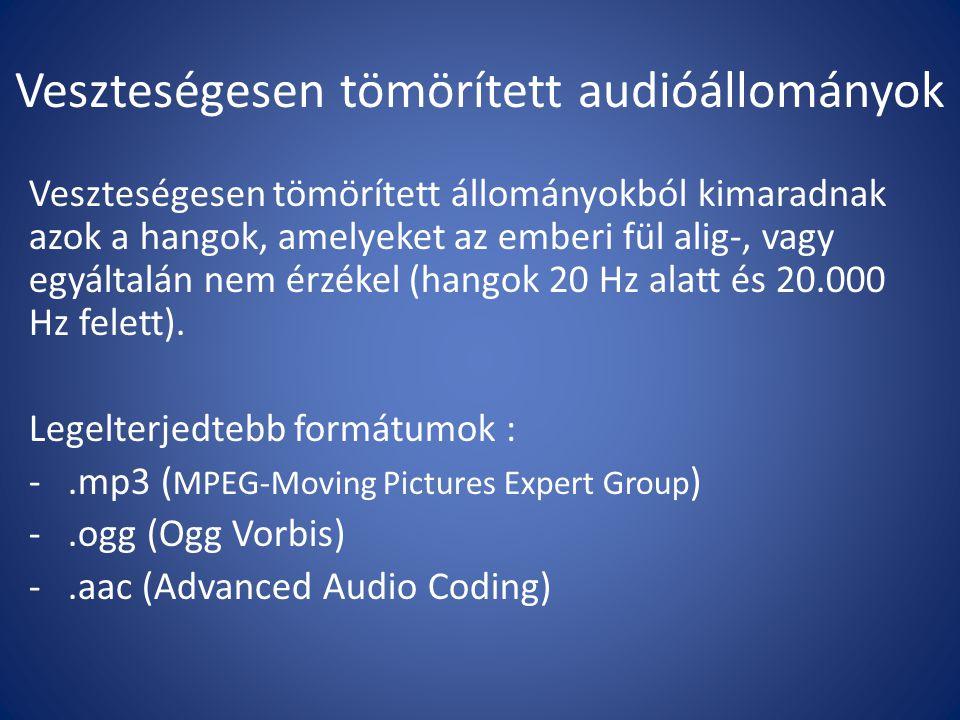 Veszteségesen tömörített audióállományok