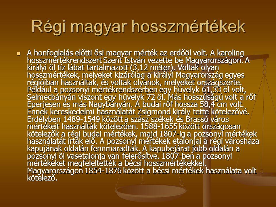 Régi magyar hosszmértékek