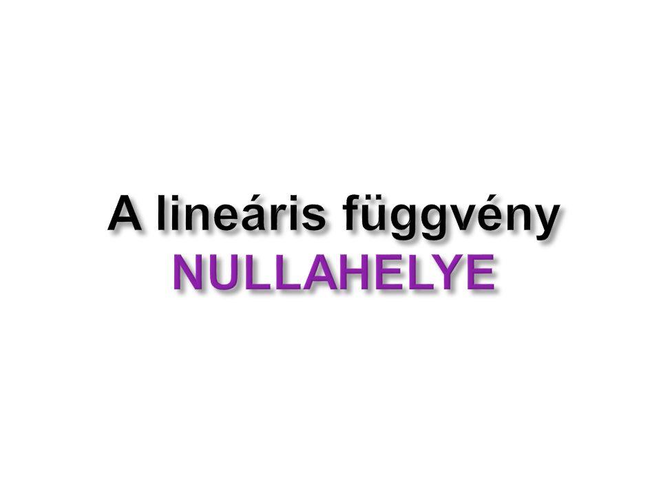 A lineáris függvény NULLAHELYE