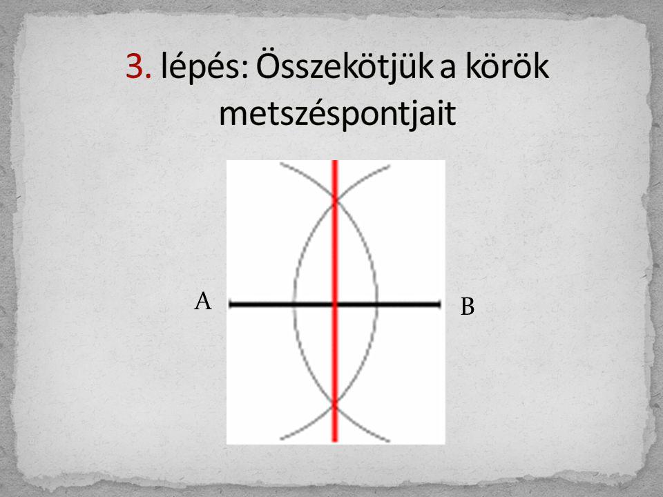 3. lépés: Összekötjük a körök metszéspontjait