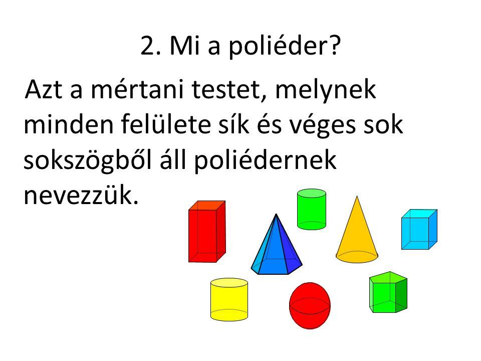 2. Mi a poliéder.