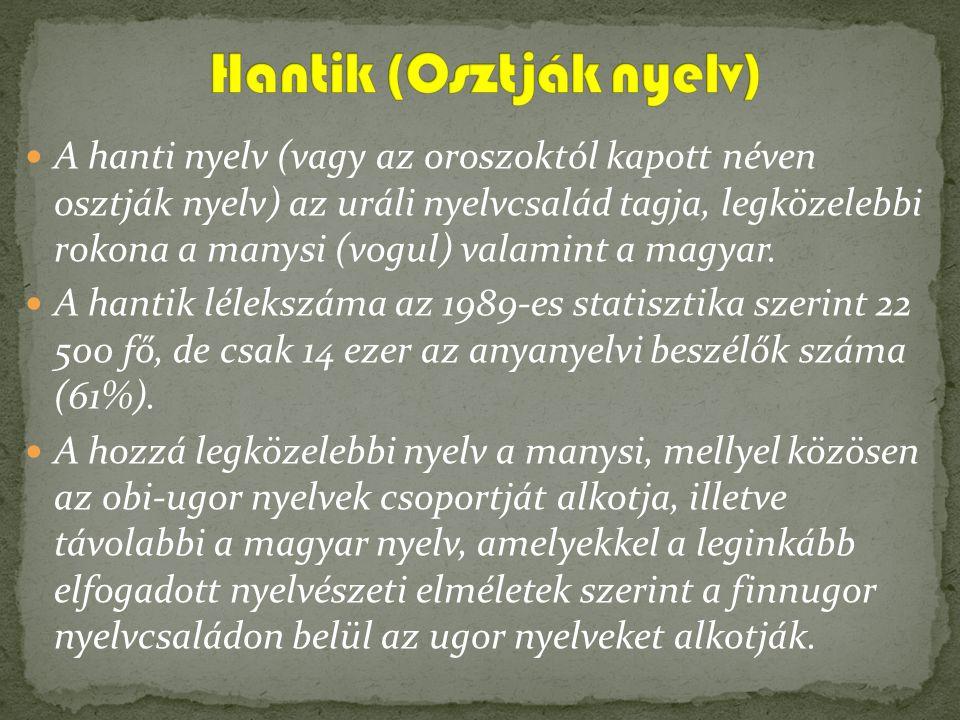 Hantik (Osztják nyelv)