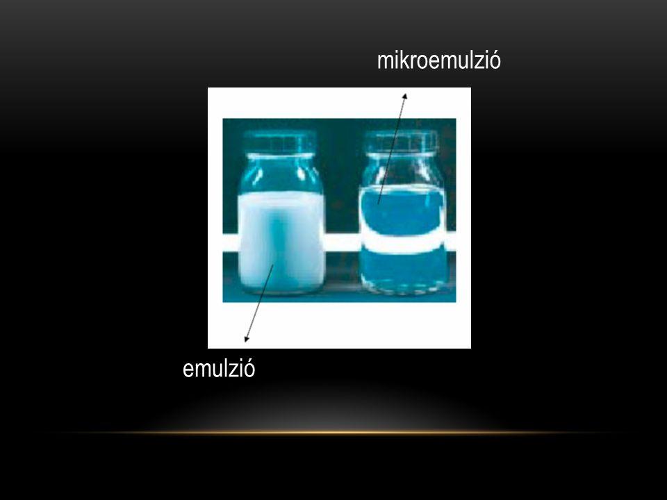 mikroemulzió emulzió