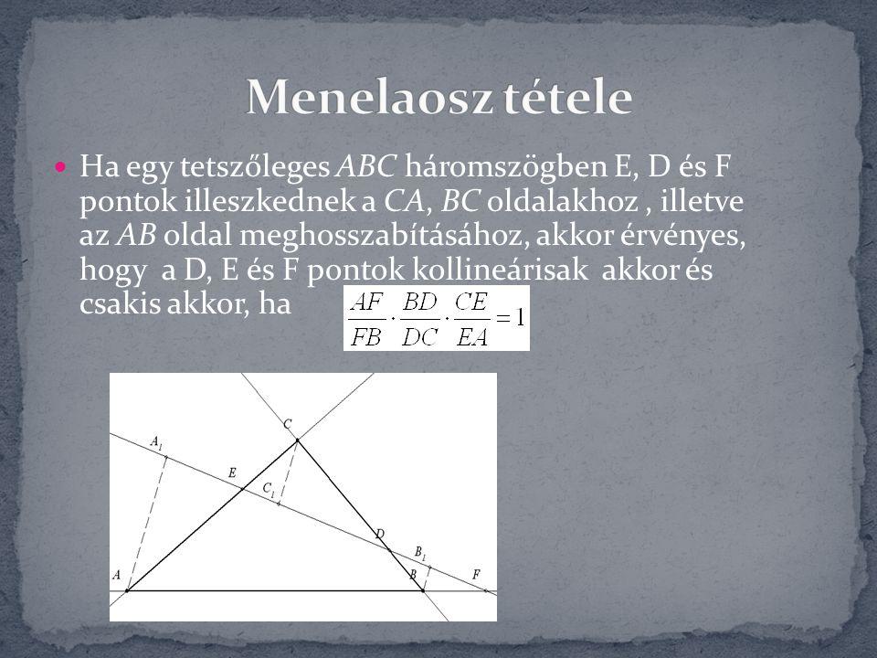 Menelaosz tétele
