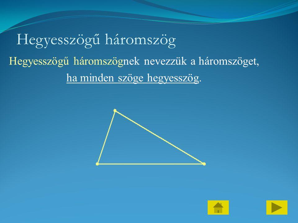 Hegyesszögű háromszög