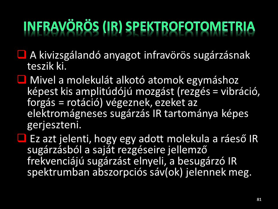 Infravörös (IR) spektrofotometria