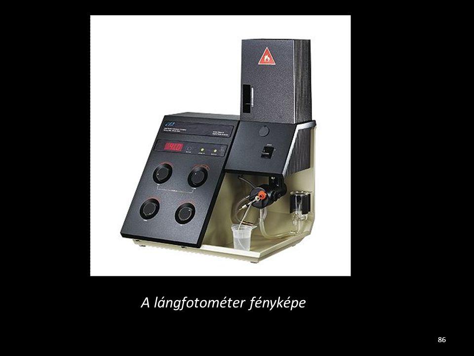 A lángfotométer fényképe