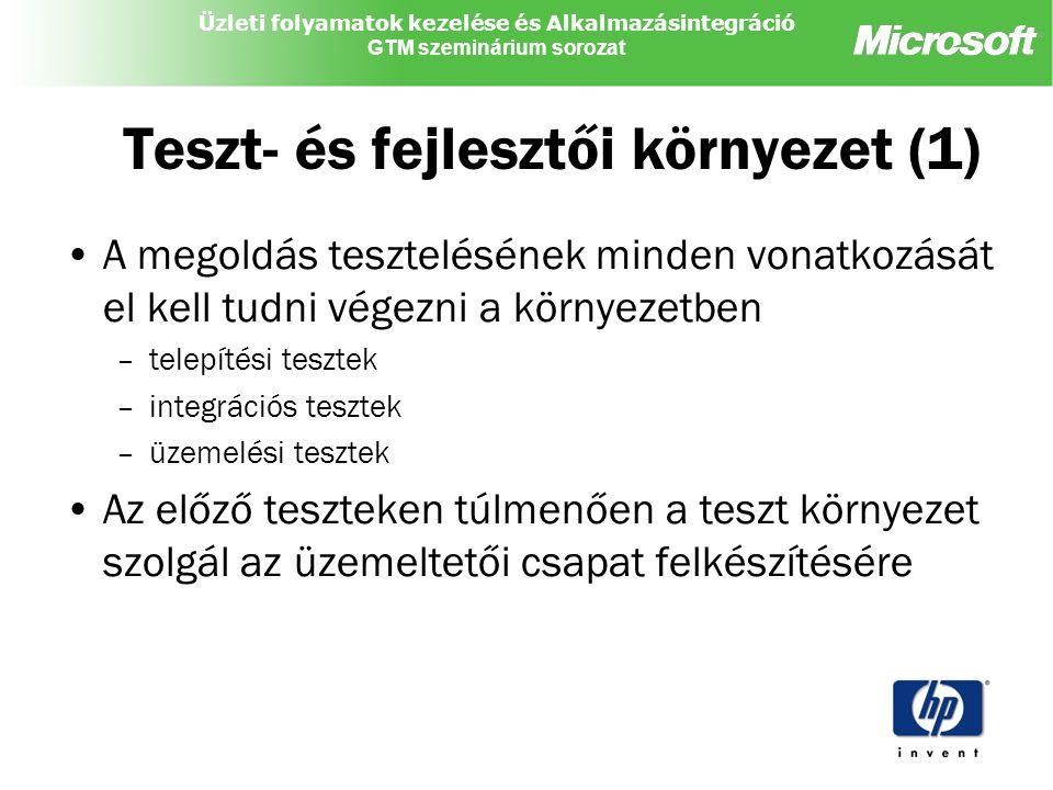 Teszt- és fejlesztői környezet (1)