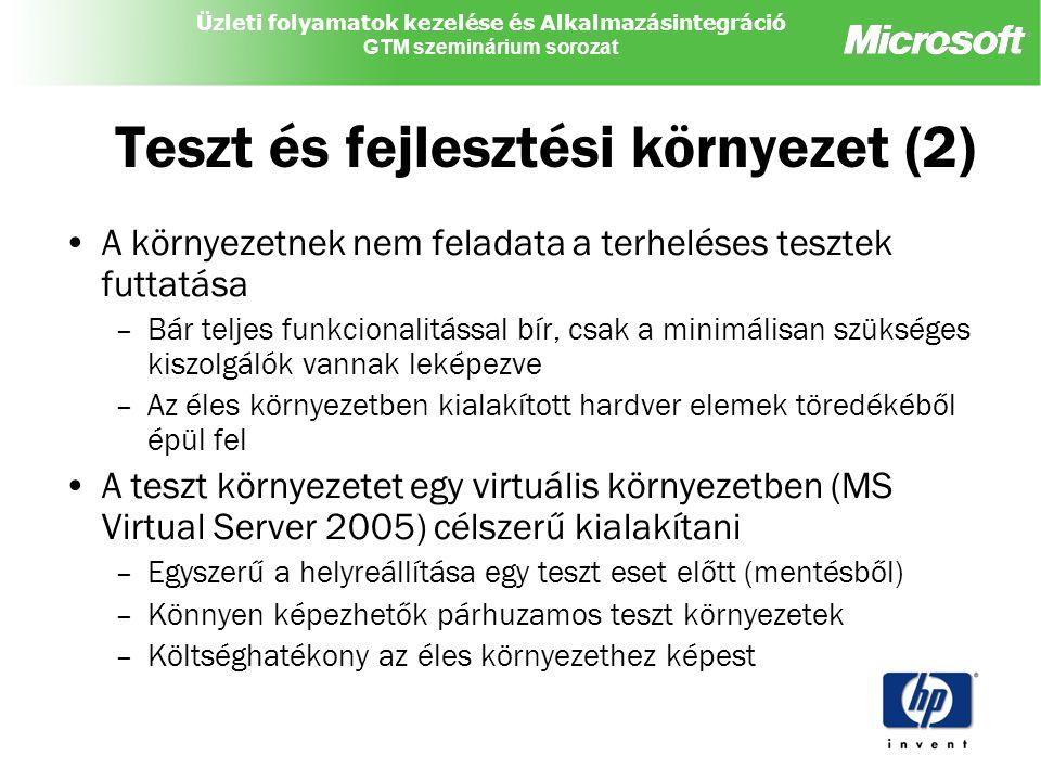 Teszt és fejlesztési környezet (2)