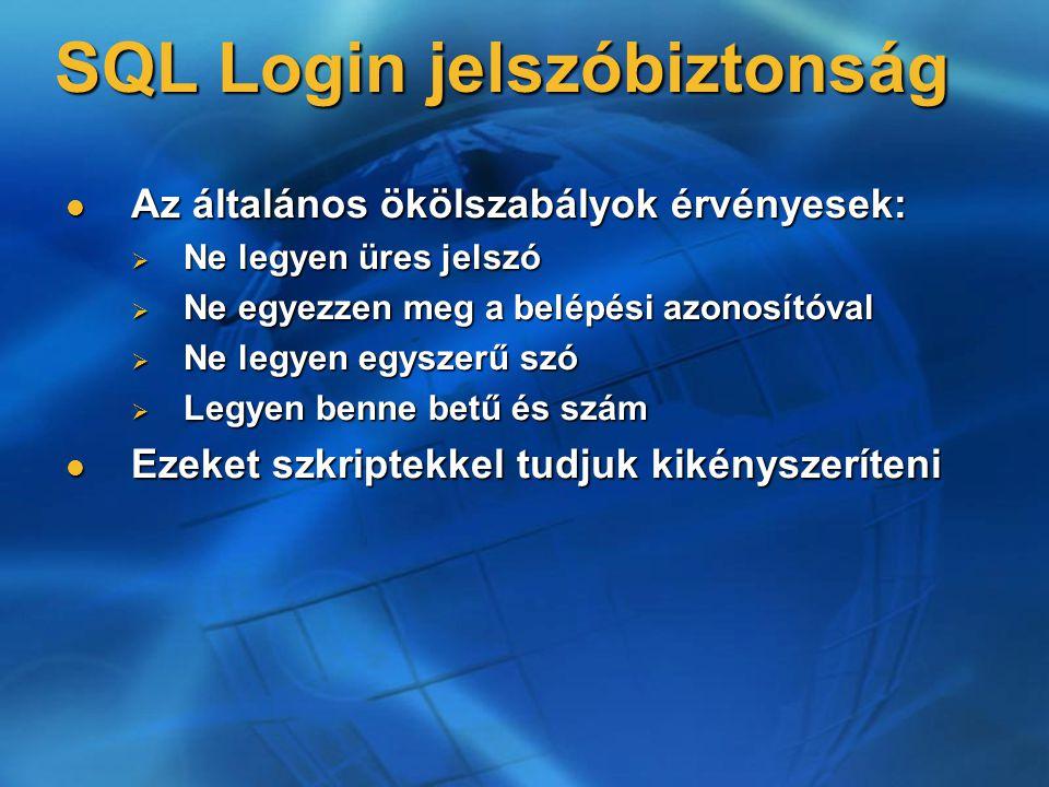 SQL Login jelszóbiztonság