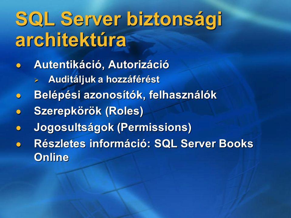 SQL Server biztonsági architektúra