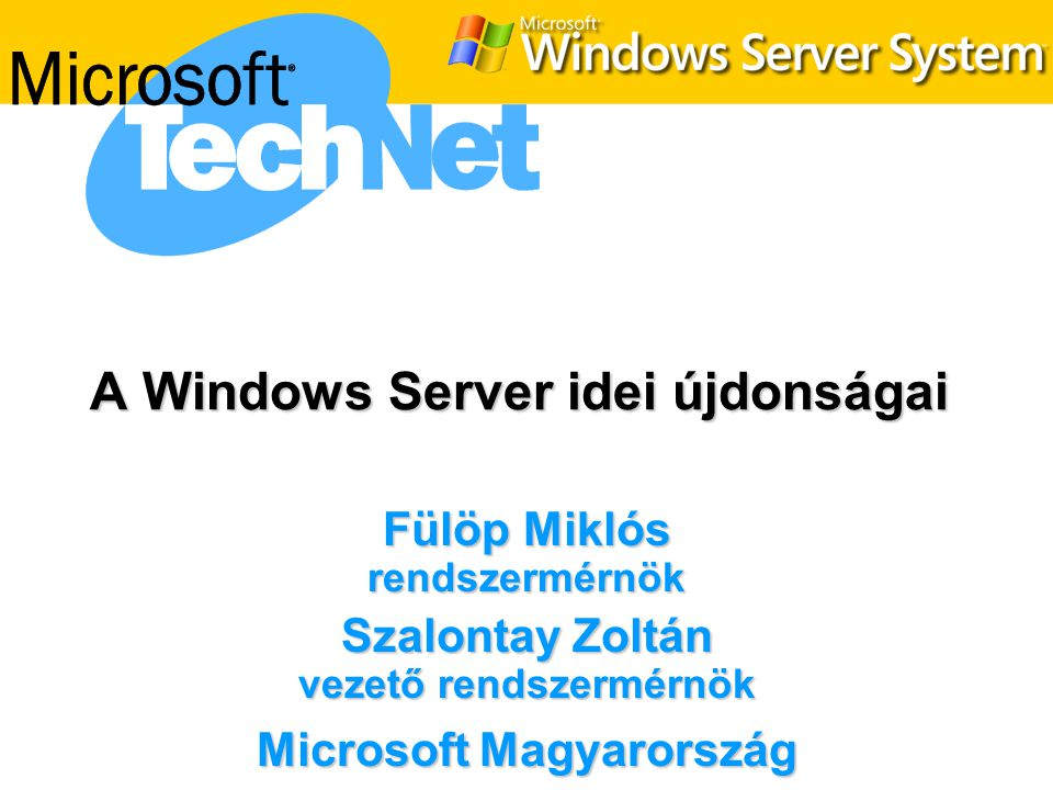 A Windows Server idei újdonságai
