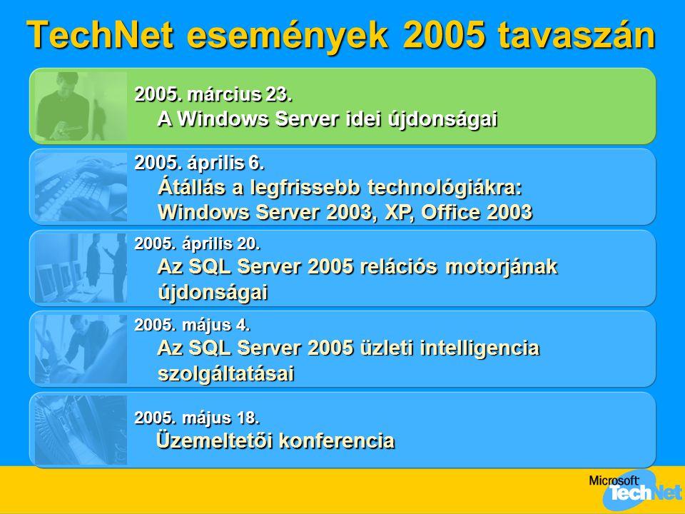 TechNet események 2005 tavaszán