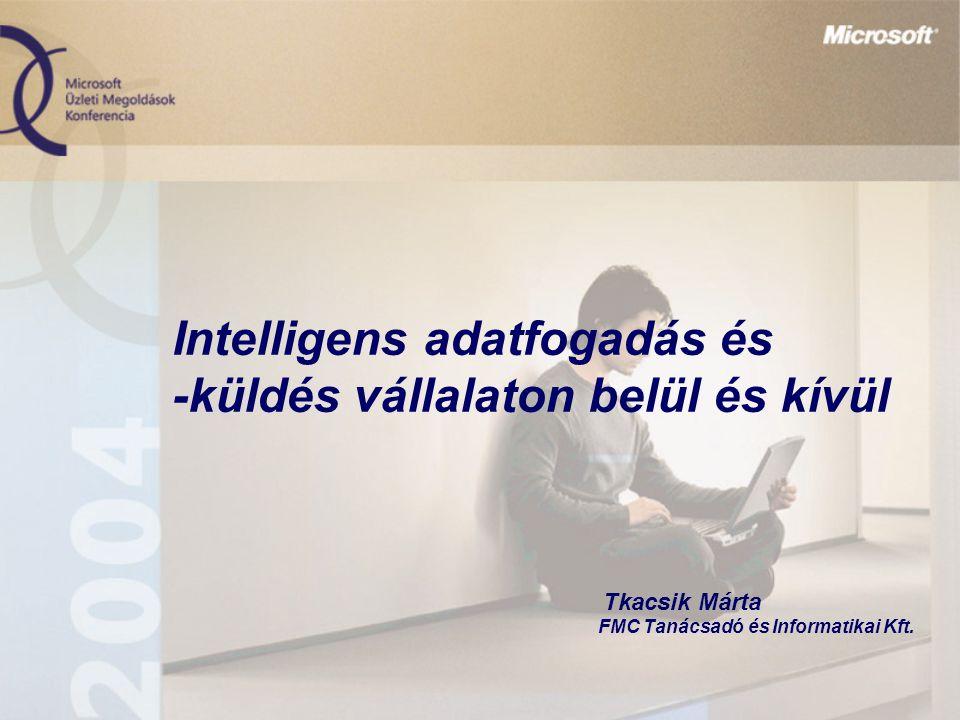 Intelligens adatfogadás és -küldés vállalaton belül és kívül