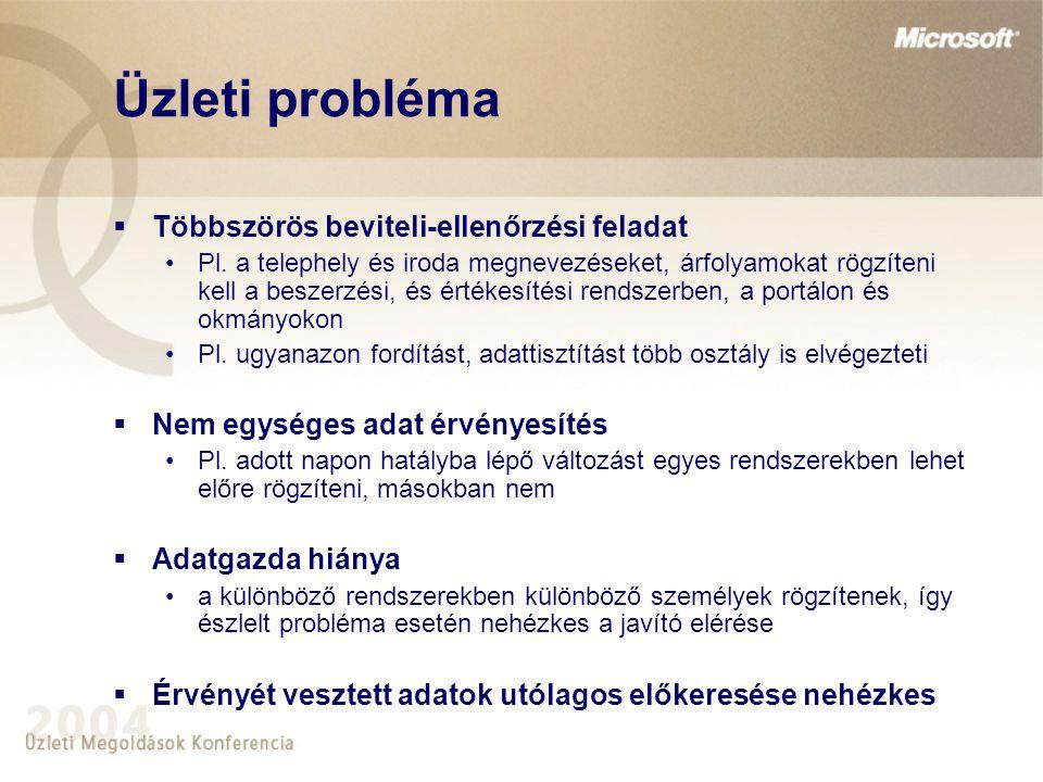 Üzleti probléma Többszörös beviteli-ellenőrzési feladat