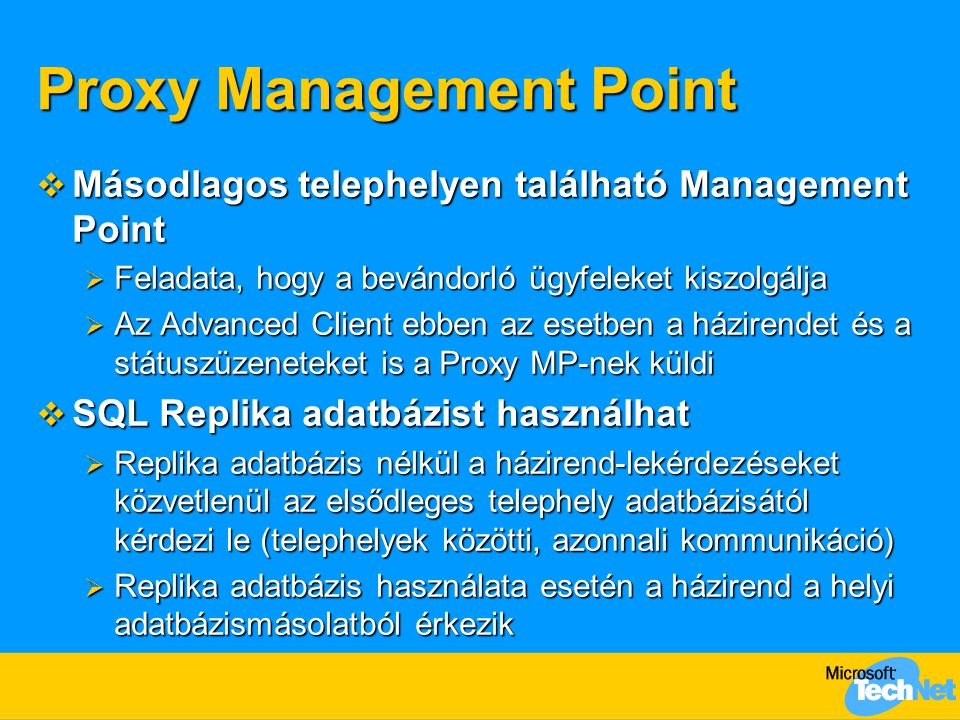 Proxy Management Point