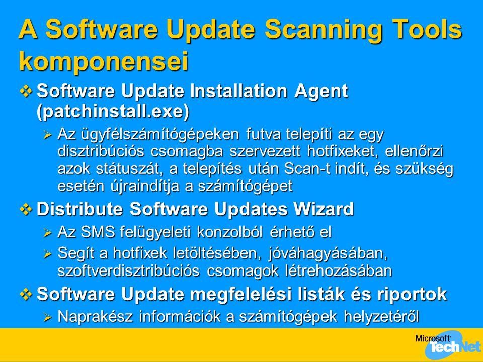 A Software Update Scanning Tools komponensei