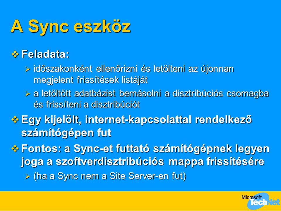 A Sync eszköz Feladata: