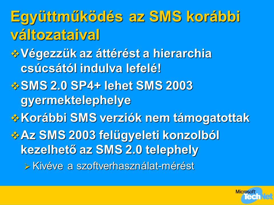 Együttműködés az SMS korábbi változataival