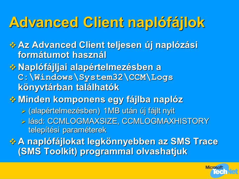 Advanced Client naplófájlok