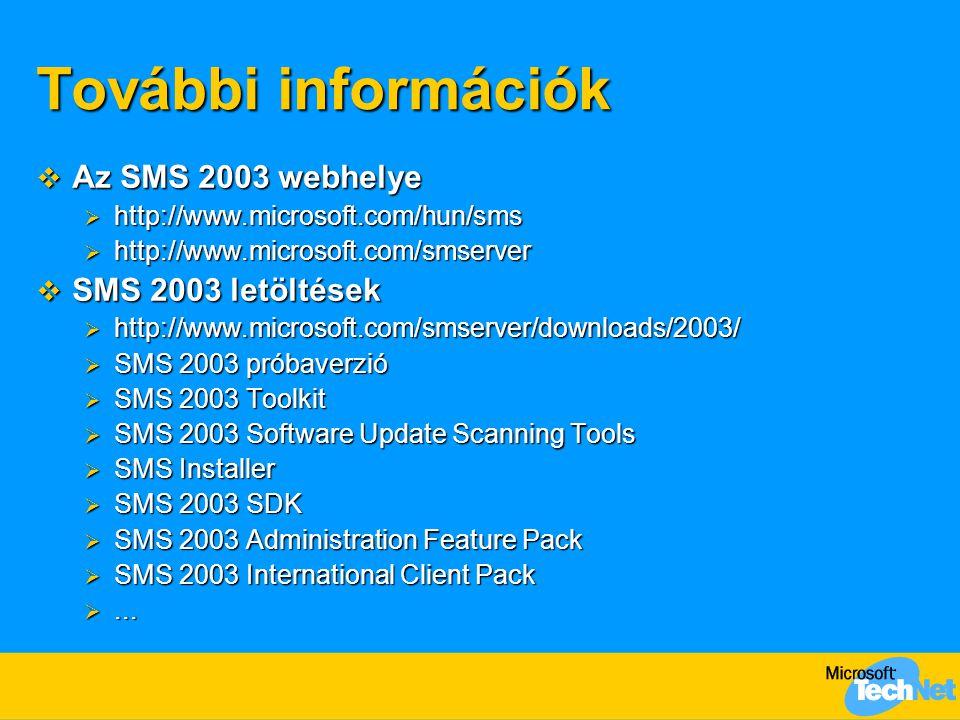 További információk Az SMS 2003 webhelye SMS 2003 letöltések