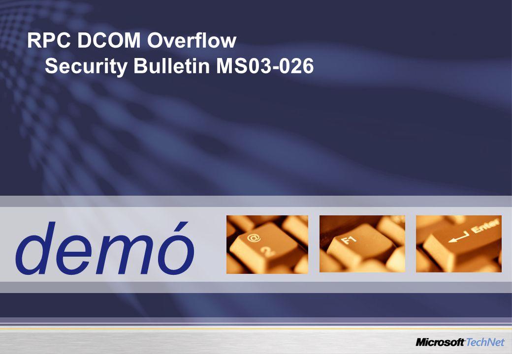 RPC DCOM Overflow Security Bulletin MS03-026