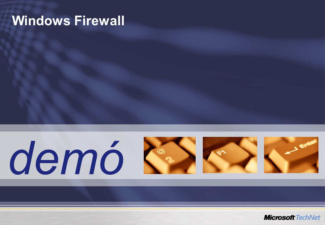 Windows Firewall demó