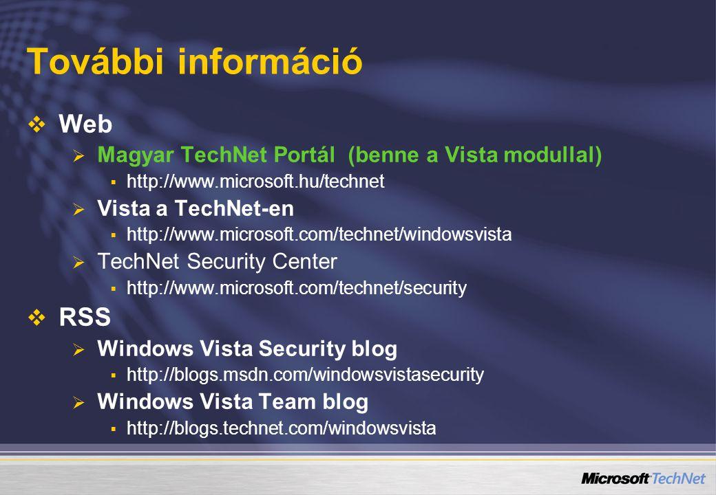 További információ Web RSS