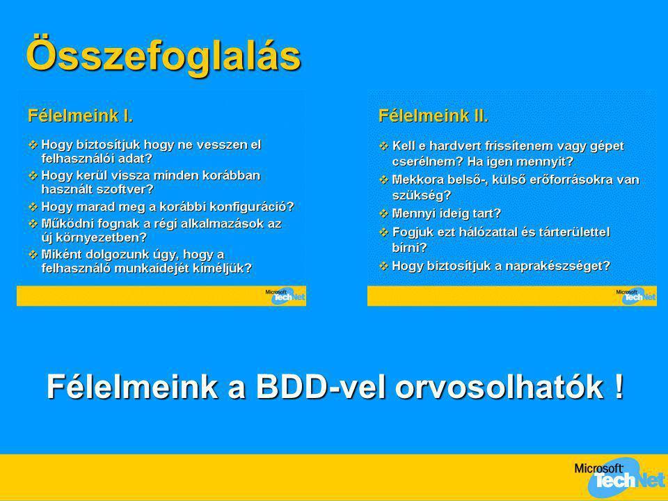 Félelmeink a BDD-vel orvosolhatók !