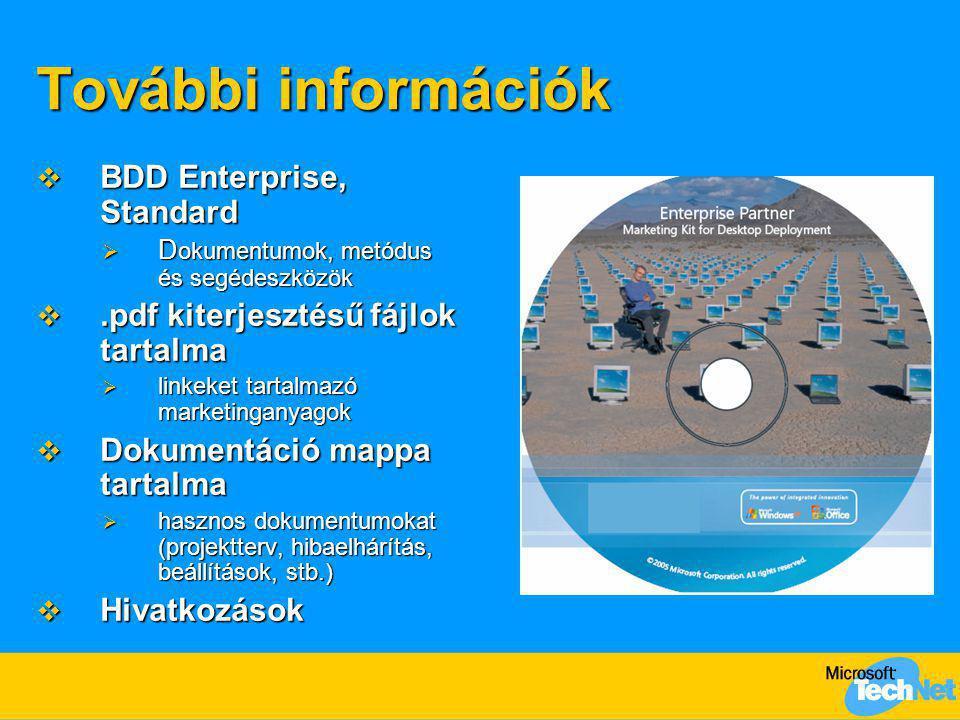 További információk BDD Enterprise, Standard