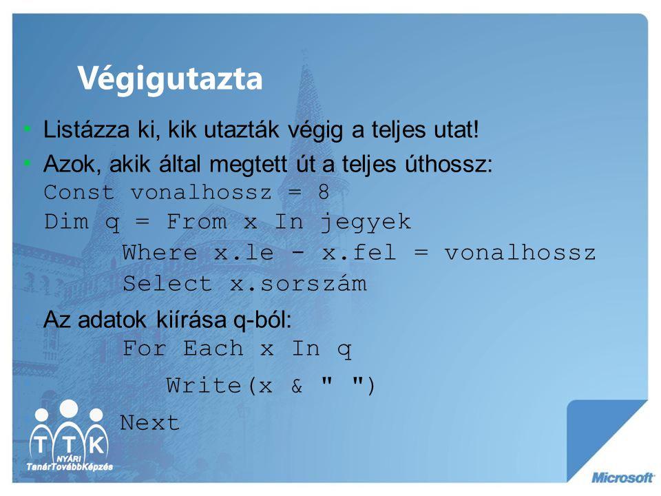 Végigutazta Write(x & ) Next