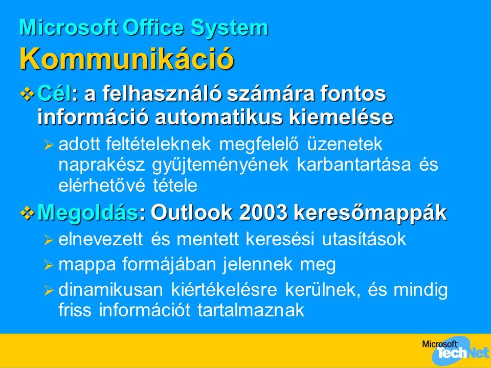 Microsoft Office System Kommunikáció