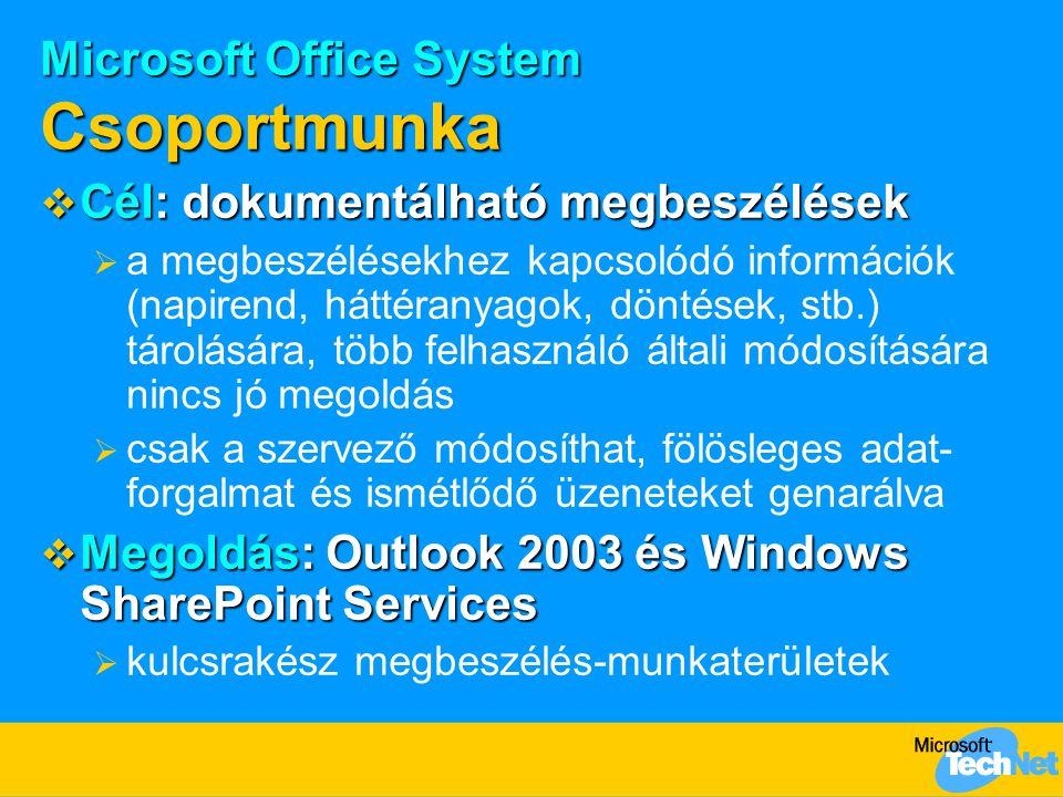 Microsoft Office System Csoportmunka