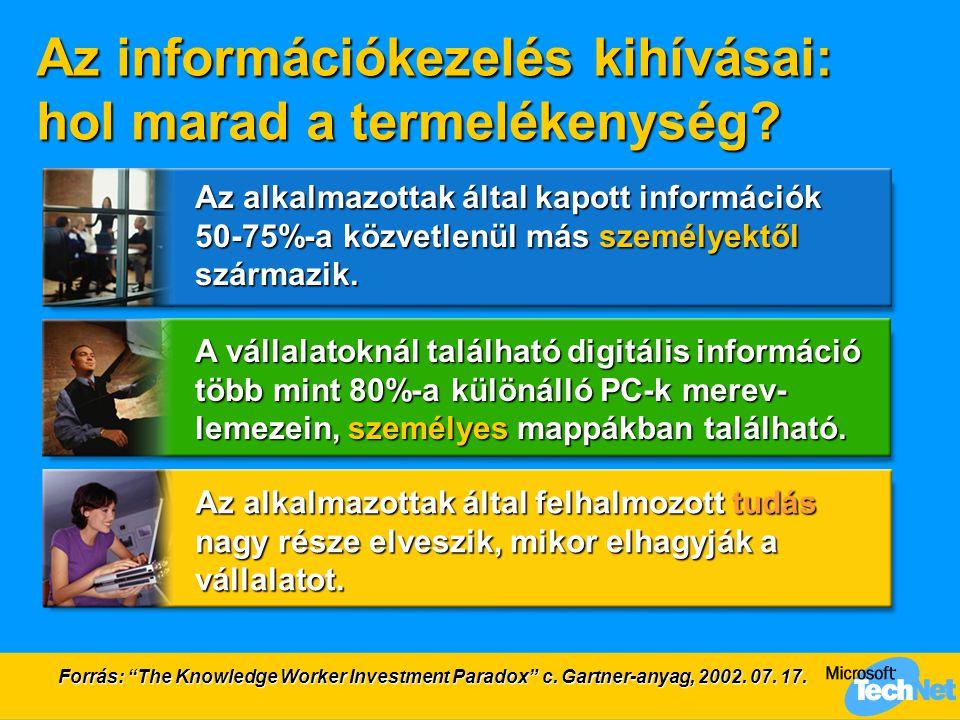 Az információkezelés kihívásai: hol marad a termelékenység