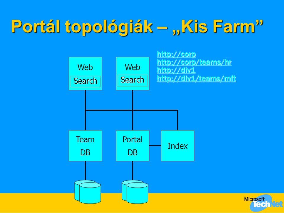 """Portál topológiák – """"Kis Farm"""