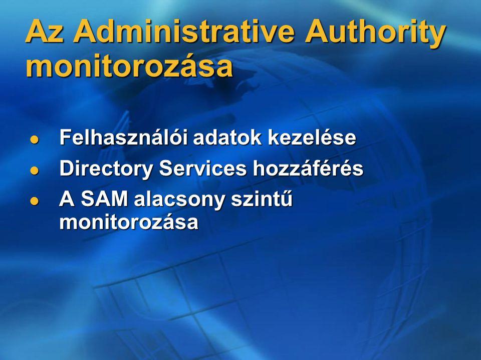 Az Administrative Authority monitorozása