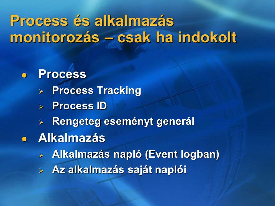 Process és alkalmazás monitorozás – csak ha indokolt