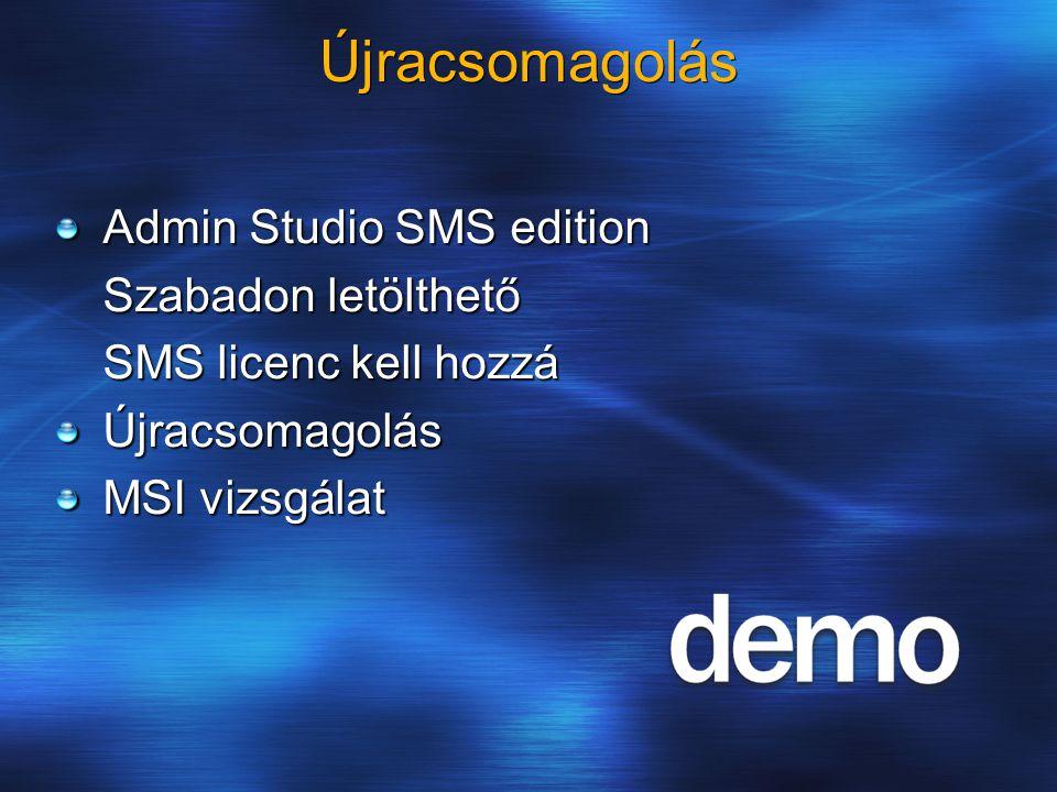 Újracsomagolás Admin Studio SMS edition Szabadon letölthető