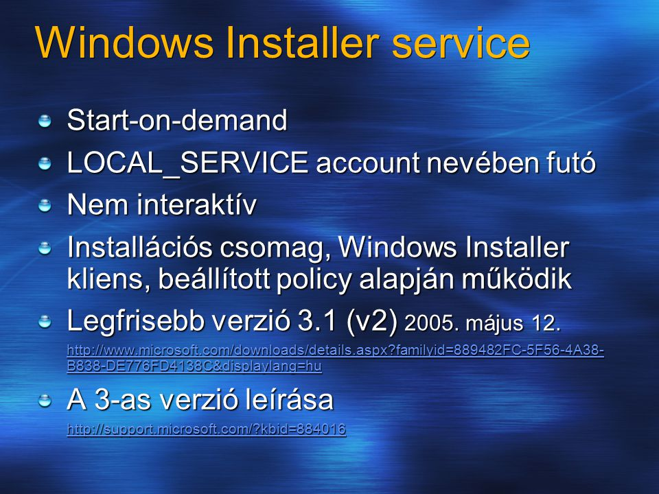 Windows Installer service