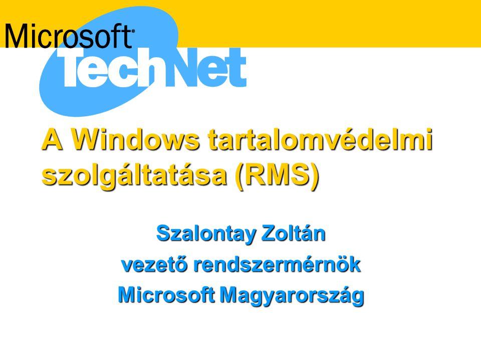 A Windows tartalomvédelmi szolgáltatása (RMS)