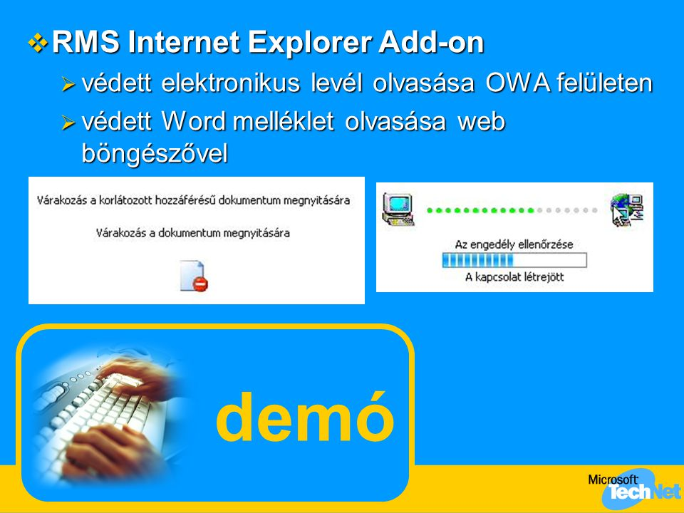 demó RMS Internet Explorer Add-on