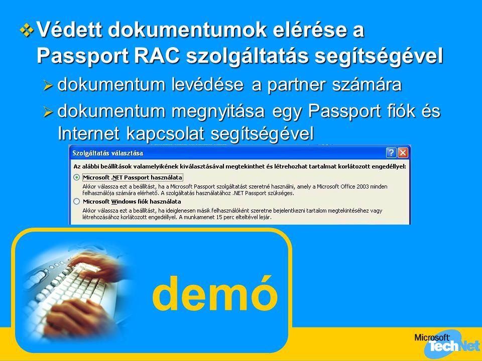 Védett dokumentumok elérése a Passport RAC szolgáltatás segítségével