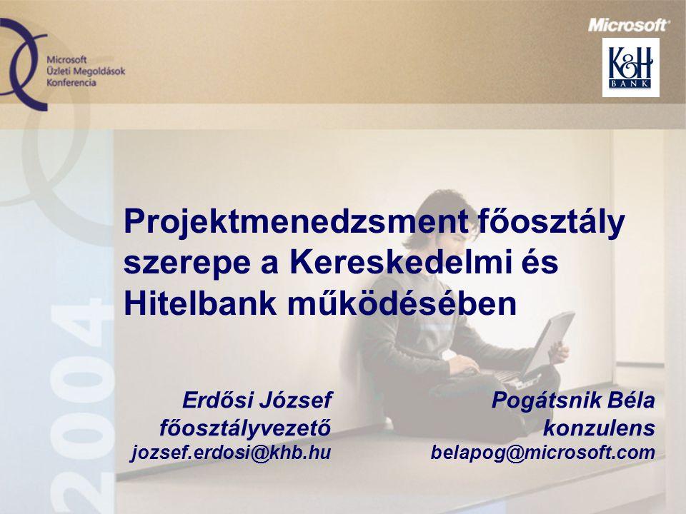 Projektmenedzsment főosztály szerepe a Kereskedelmi és Hitelbank működésében