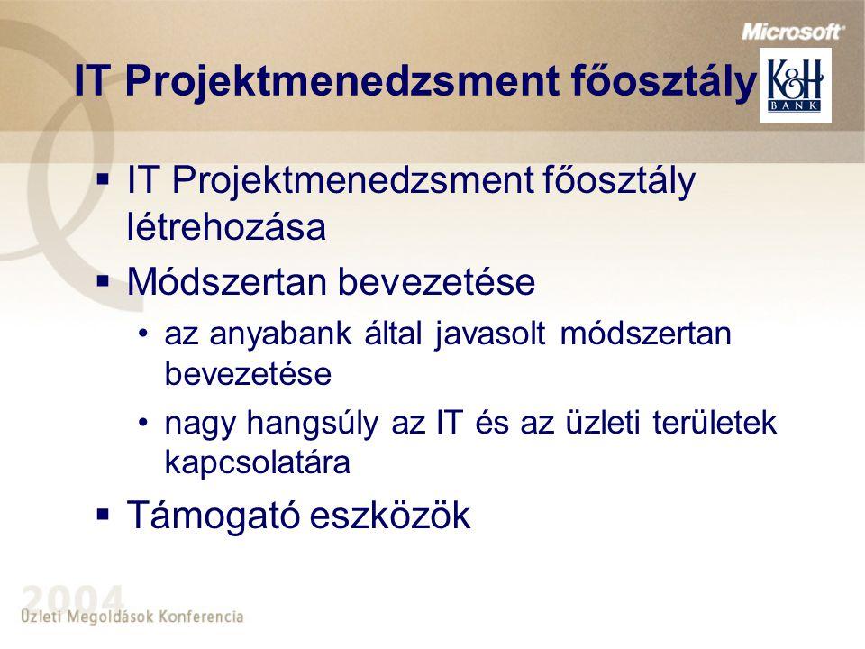 IT Projektmenedzsment főosztály
