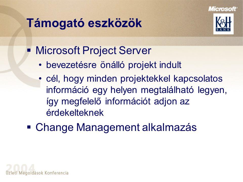 Támogató eszközök Microsoft Project Server