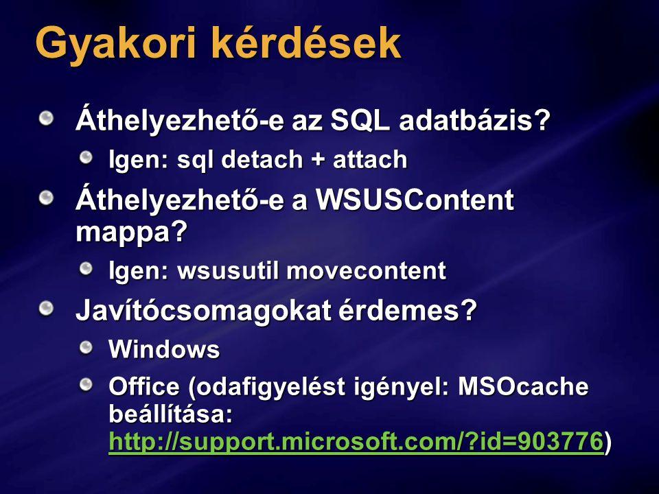 Gyakori kérdések Áthelyezhető-e az SQL adatbázis