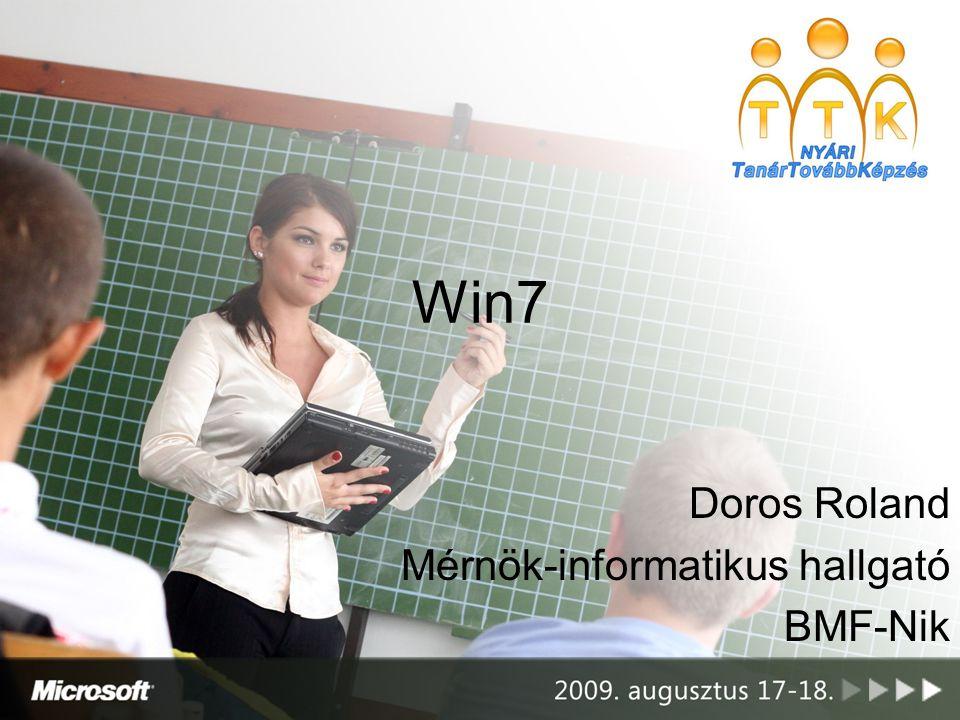 Doros Roland Mérnök-informatikus hallgató BMF-Nik