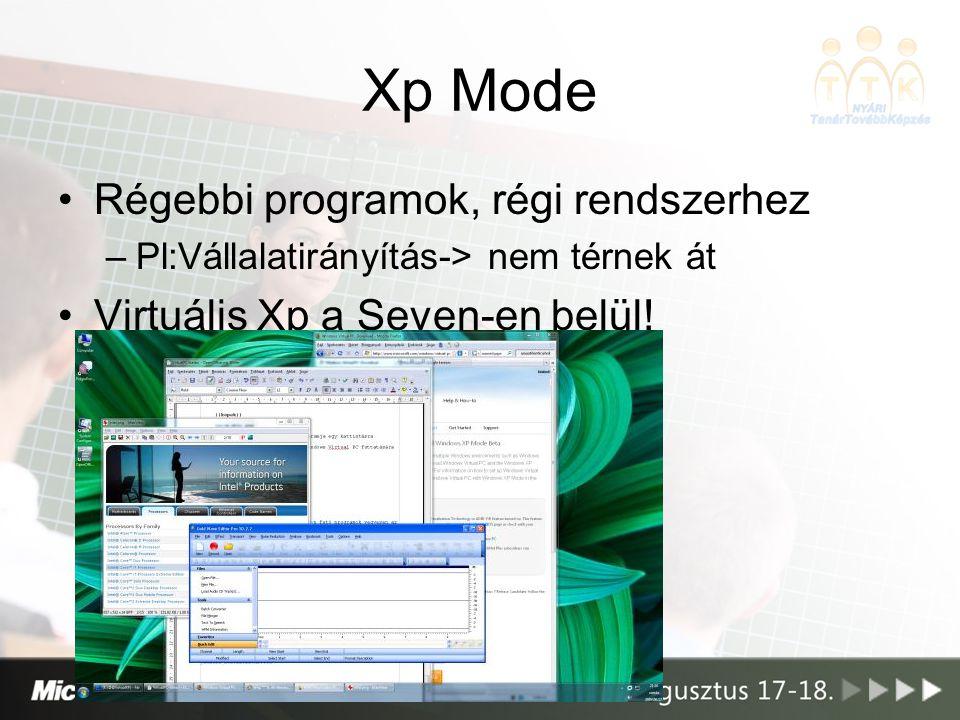 Xp Mode Régebbi programok, régi rendszerhez