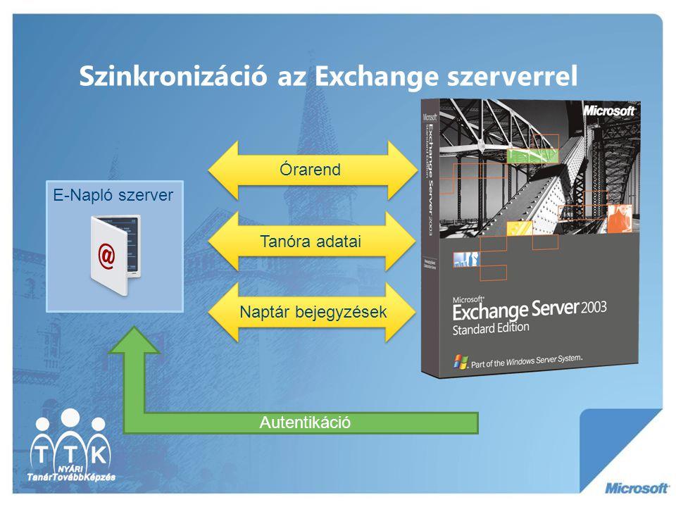 Szinkronizáció az Exchange szerverrel