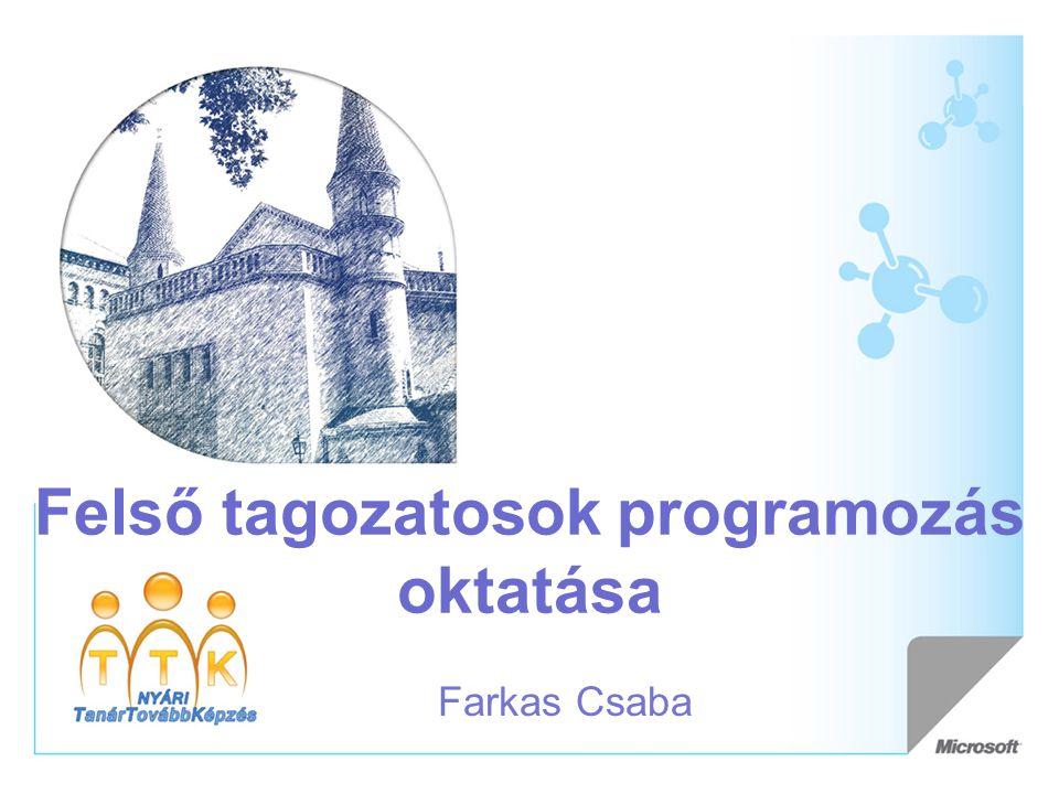 Felső tagozatosok programozás oktatása